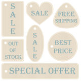 Set of beige labels Royalty Free Stock Photography