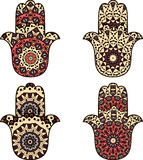Set of  beige orange hamsa Royalty Free Stock Photography