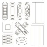 Set of Beige Plaster. Vector illustration, EPS 10 Stock Photos