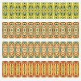 Set of belt geometric patterns in vintage style. Useful for frame  or border decoration of a leaflet, flyer, poster, dinner card, Stock Photos