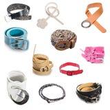 Set of belt isolated Royalty Free Stock Photos