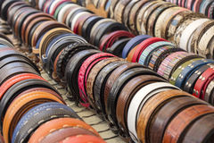 Set belts Stock Images