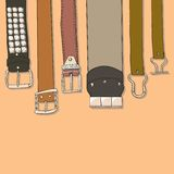 Set of belts Royalty Free Stock Images