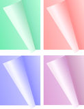 Set of bended paper sheet Royalty Free Stock Photography