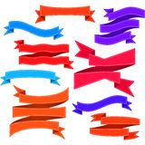 Set of bent ribbons with seam Royalty Free Stock Images