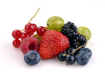 Set of berries Stock Photos