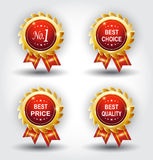 Set of best badge Stock Images