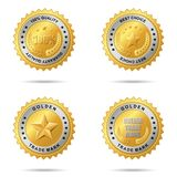 Set of best choice golden labels. Royalty Free Stock Photos