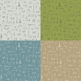 Set 4 bezszwowa tekstura z ogrodowym wyposażeniem Fotografia Stock