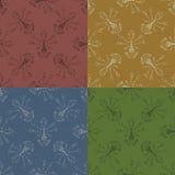 Set 4 bezszwowa tekstura z ogrodowymi narzędziami Obraz Stock