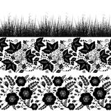 Set bezszwowe rośliien granicy Obrazy Stock