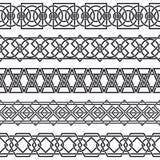 Set bezszwowe rocznik granicy w postaci cel Obrazy Royalty Free