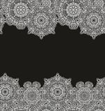 Set bezszwowi dekoracyjni granica wzory Zdjęcie Royalty Free