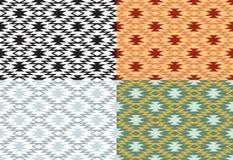 Set bezszwowi geometryczni wzory Obrazy Stock