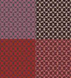 Set bezszwowi geometryczni wzory Zdjęcia Royalty Free
