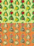 Set bezszwowi wektorowi owoc wzory Zdjęcia Royalty Free