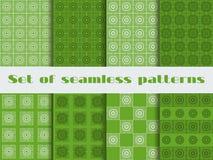 Set bezszwowi wzory art deco styl Piękny ornament w rocznika stylu Obraz Stock