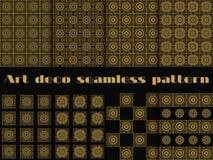 Set bezszwowi wzory art deco styl Piękny ornament w rocznika stylu Obraz Royalty Free