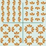 Set bezszwowi wzory liście obraz stock