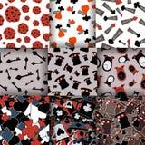 Set Bezszwowi wzory od Alice Fotografia Stock