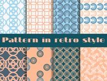 Set bezszwowi wzory w art deco stylu Bezszwowy tło Fotografia Royalty Free