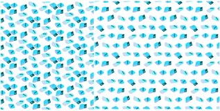 Set bezszwowi wzory z medycznymi elementami - bandaż i bawełna Pakujący w błękicie Niekończący się tło z apteka przedmiotami ilustracji