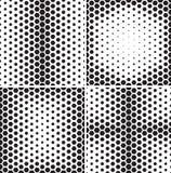 Set bezszwowi wzory z sześciokątów gradientami royalty ilustracja