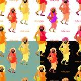 Set bezszwowy deseniowy mężczyzna joga również zwrócić corel ilustracji wektora Fotografia Stock