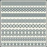 Set bezszwowy rocznik graniczy w postaci celta ornamentu Fotografia Stock