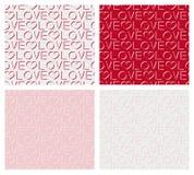 Set bezszwowy wzór słowo miłość Obraz Stock