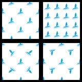Set bezszwowy wzór windsurfing Fotografia Stock