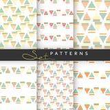 Set 6 bezszwowych retro geometrycznych wzorów Zdjęcia Stock