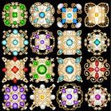 set biżuteria rocznika breloczków ornament robić był royalty ilustracja