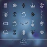 Set biżuterii ikony Obraz Royalty Free