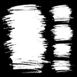 Set Białe skrobanin plamy Wręcza patroszonego w ołówku Obrazy Royalty Free