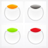 Set kolorowi plastikowi guziki Zdjęcia Stock