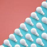 Set biały lightbulb na koloru tle Pomysł twórczość royalty ilustracja