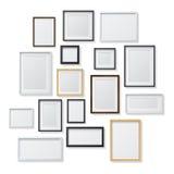 Set Białe i Czarne Puste obrazek ramy i Obraz Stock