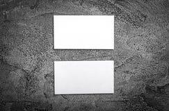 Set białe wizytówki Zdjęcia Stock
