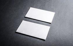 Set białe wizytówki Obraz Stock