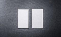 Set białe wizytówki Obrazy Royalty Free