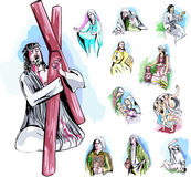 Set of Bible Illustrations Stock Image