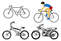 Set bicycle Stock Images