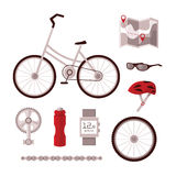 Set bicycle accessories Stock Photography