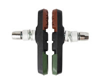 Set of bicycle brake pads from composite material (for V-brake) Stock Image