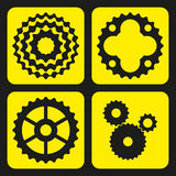 Set of bicycle cogwheels (or gear wheels). Stock Photo