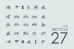 Set of bicycle icons Royalty Free Stock Photography