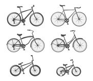 Set of bicycle icons vector illustration