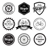 Set of  bicycle retro vintage badges and labels. Royalty Free Stock Photos