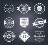 Set of  bicycle shop logo Royalty Free Stock Photography